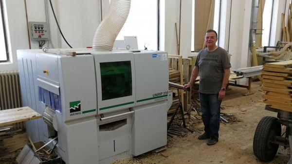 Večlistna žaga Weinig Unirip - dobra obdelava lesa in rentabilna proizvodnja v praksi