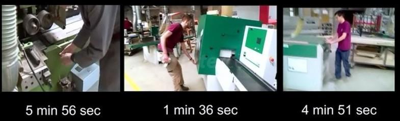 Porabljen čas za menjavo nožev pri skobeljnih strojih
