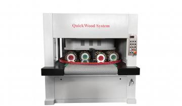 Stroji za ščetkanje različnih elementov pohištva in vrat