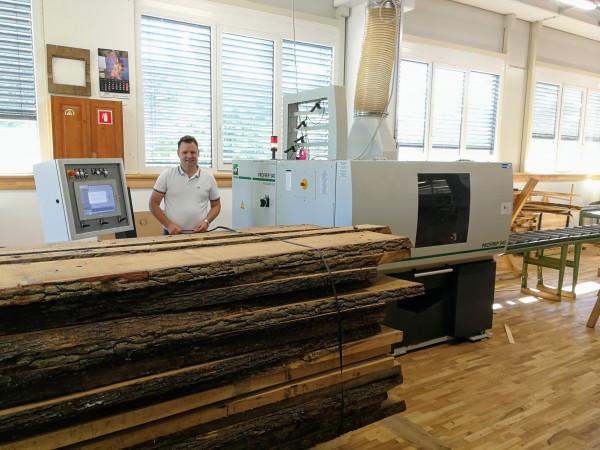 Večlistna krožna žaga Weinig ProfiRip je zagotovila fleksibilen razrez z maksimalnim izkoristkom lesa