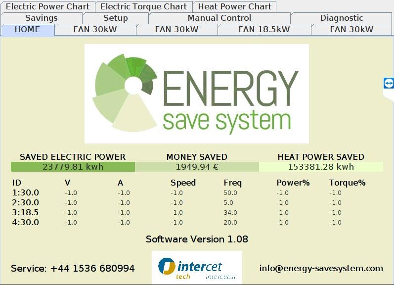 DESA osnovni ekran prihranek energije denarja