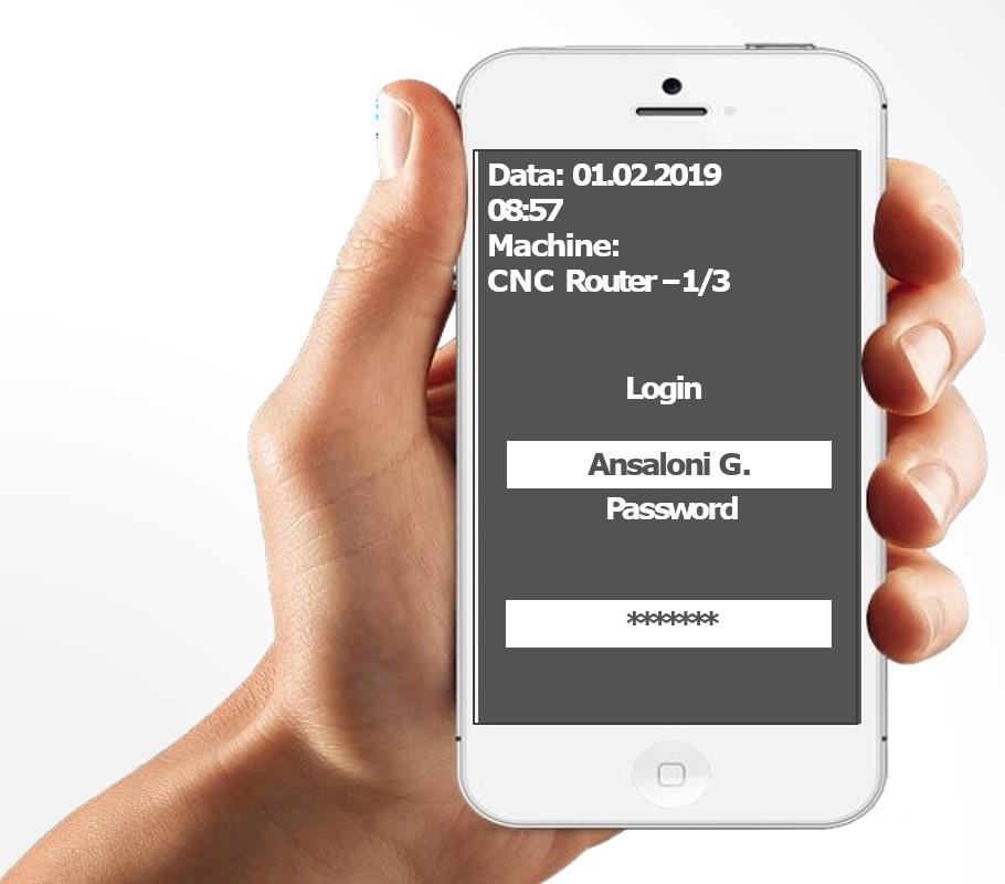 Prijava uporabnika v program - prikaz podatkov za vsakega uporabnika je glede na dodeljene pravice