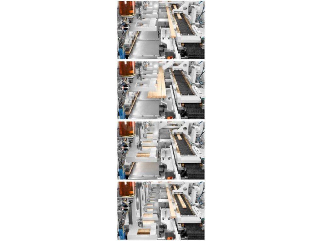 Stiskalnica za širinsko lepljenje ProfiPress C - sistem dodajanje lamel.